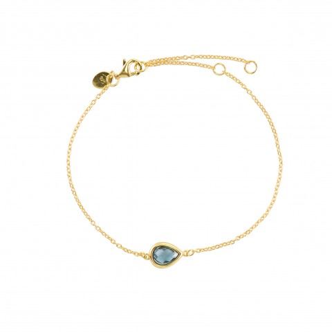 BRACELET NEW with silver gold plated and blue crystal